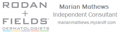 Sponsor Marian Mathews - Independant Rodan & Fields Consultant