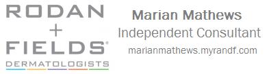 Sponsor Marian Mathews - Independant Rodan & Fields Consultant