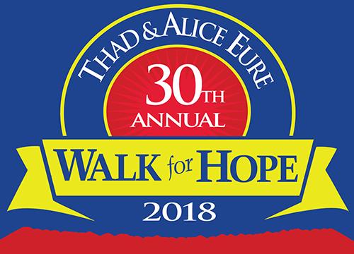 30th Annual Thad & Alice Eure Walk/Run for Hope