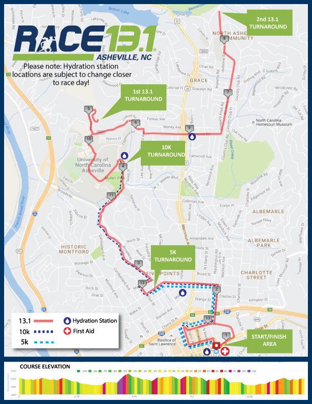 Asheville Nc Map Pdf.Race 13 1 Asheville Nc Course Maps