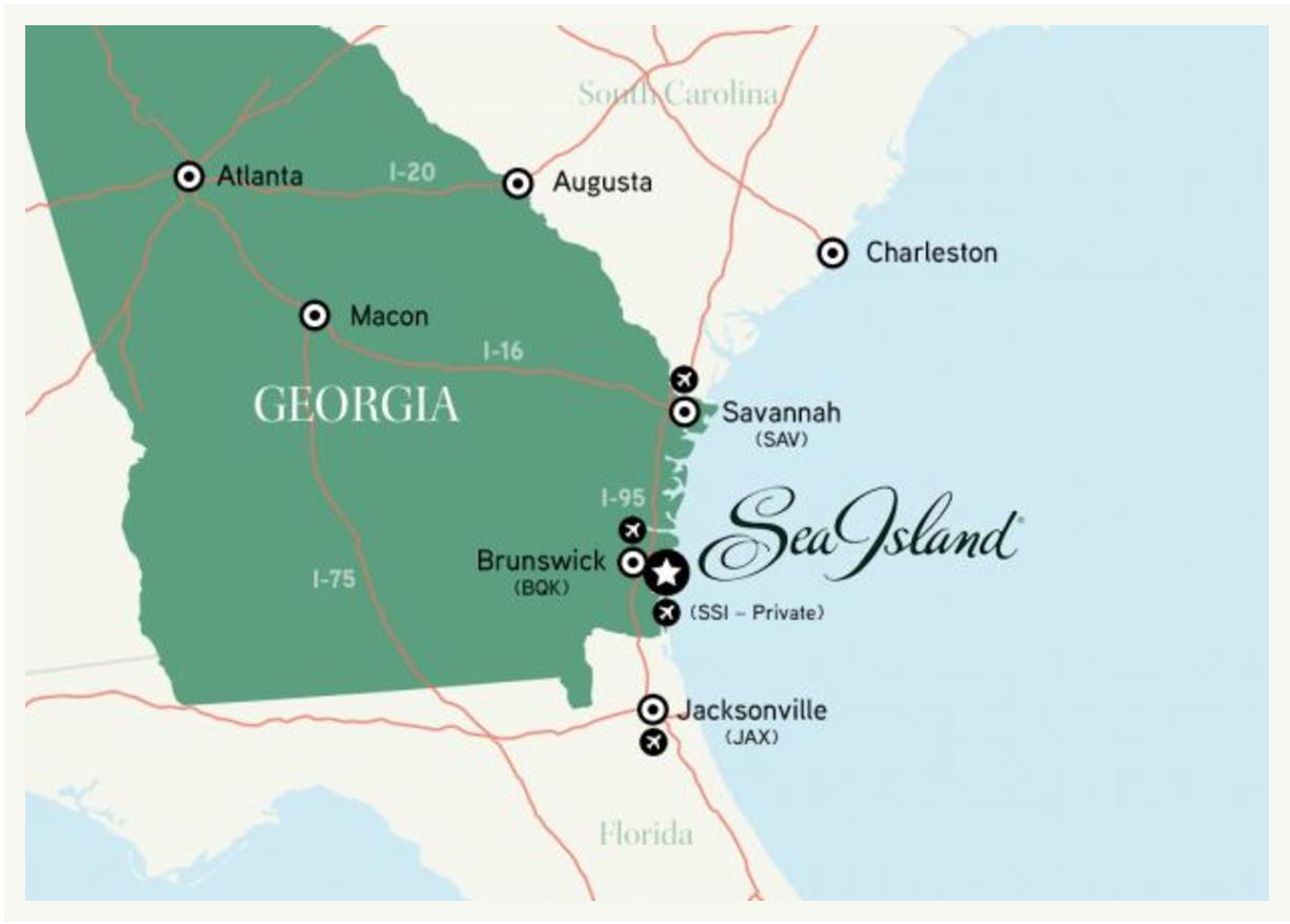 Map Of Georgia Barrier Islands.Sea Island Half Marathon Sea Island Ga 2018 12 01